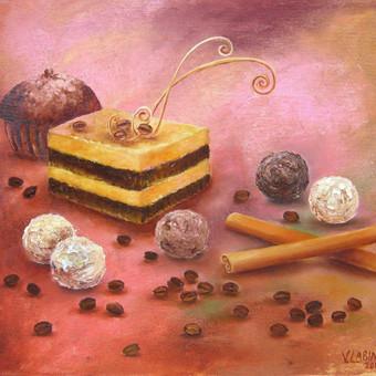 75 eur_Kapučino desertas 35x30, al.drobė.
