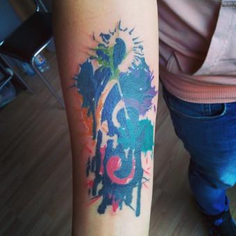 #LinasTattoo #Tattoo #ColorTattoo #Nata #AbstractTattoo #IntenzeInk