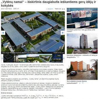 Portale Kaunodiena.lt publikuotas mano parengtas reklaminis straipsnis apie pradedamą statyti išskirtinį daugiabutį Kauno mieste.