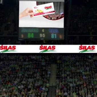 """""""Šilas"""" reklama """"Žalgirio"""" arenoje"""