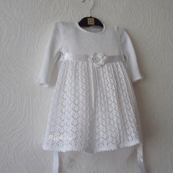 Lininė krikšto suknelė.