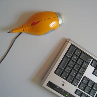 Patobulinta pelė - pieštukas
