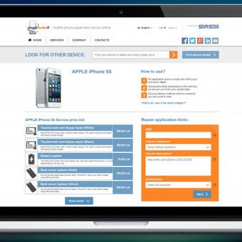 http://www.smarthuolto.fi/ svetainės paslaugos puslapio dizainas. http://www.smarthuolto.fi/Apple/iPhone-5S.html