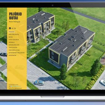 www.pajuriobutai.lt svetainės dizainas