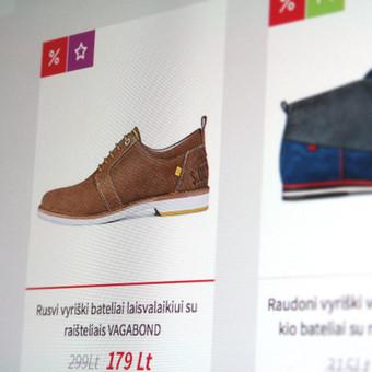 """Elektroninė parduotuvė """"Tikri batai"""". Įgyvendintas sprendimas → sukurti aiškią, lengvai suvokiamą ir parduodančią svetainę.  Daugiau darbų  → http://www.andriusdesigner.com/"""