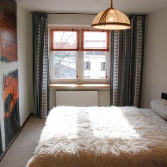 43 m2 butas Klaipėdoje po remonto. Miegamasis kambarys.
