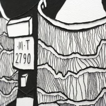 Grafika ir piešiniai ant sienų / Tadas Šimkus / Darbų pavyzdys ID 13793