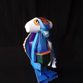 Sulankstomas popierinis žaislas(charakterio kūrimas,grafikos pritaikymas ir realizacija)