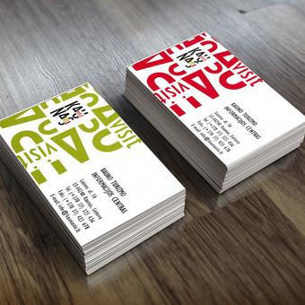 Vizitinės kortelės dizainas