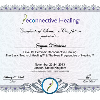 2014m. Londonas. Seminaras (I/II lygiai): Recconective Healing by Dr.Eric Pearl.
