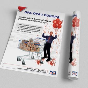 Plakatas, kurtas įmonei AD-Baltic Europos gimtadienio proga.