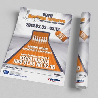 VGTU FMF SA organizuojamam boulingo turnyrui.