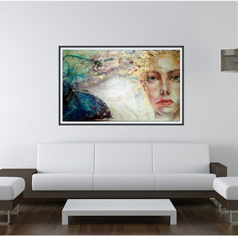 "Silko paveikslas ""Energijos Tekme"" - viskas yra viena susieta energijos tekme, kuri teka is visko i viska."