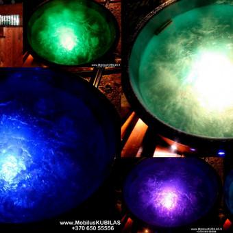 Kubilo besikeičiančios led lempos