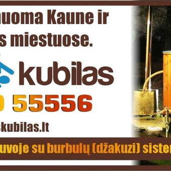Mobilus kubilas į namus. Kubilo nuoma  Kaune ir visoje Lietuvoje