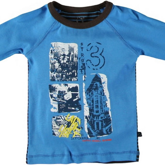 You Kids® marškinėliai FRILO berniukui  Privalumai: Švelnus trikotažas, priekaklyje nėra etikečių. Priekyje stilingas marginimas. Medžiagų gamyboje nenaudojami AZO dažai (kancerogenin ...