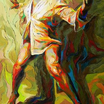 """Aliejinė tapyba ant drobės. Paveikslas """"Proveržis"""" 50x70cm. (PARDUOTAS)"""