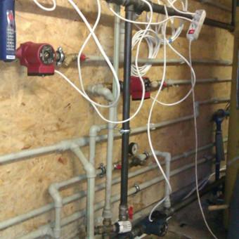 Katilinės įrengimas su šildymo talpa 1 foto