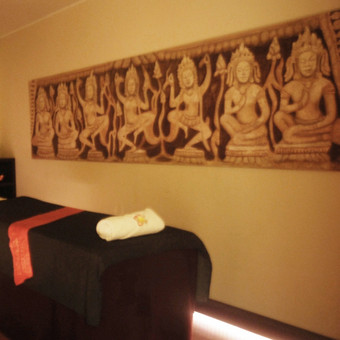 Masažų salonas - interjero dizainas ir dekoravimas.