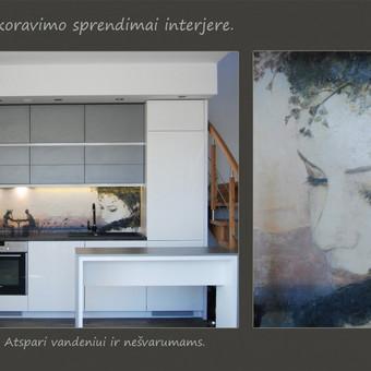 Išskirtiniai dizaino - dekoravimo sprendimai interjere. Veniciano tinko freska virtuvėje. Atspari vandeniui ir nešvarumams.