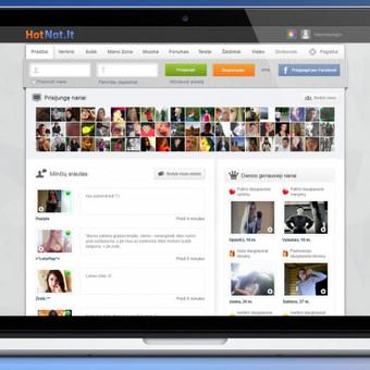 www.HotNot.lt pažinčių portalo dizaino atnaujinimas.