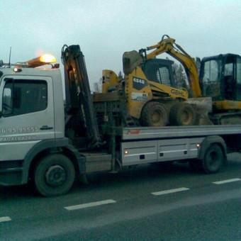 Statybinės technikos pervežimas