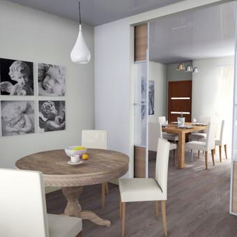 Šiuolaikiškas namo interjeras Vilniuje