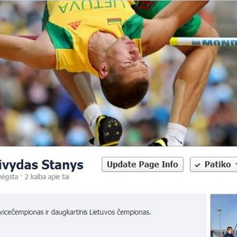 """Sėkmingas lengvaatlečio, Europos vicečempiono, Raivydo Stanio puslapio socialiniame tinkle """"Facebook"""" startas - per mažiau nei savaitę prisijungė daugiau kaip 350 gerbėjų, pirmuosius įrašus pamatė nuo 500 iki 900 """"Facebook"""" naudotojų."""