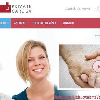 """Tarptautinės kompanijos """"Private Care 24"""" lietuviškai tinklalapio versijai pritaikiau iš lenkų kalbos išverstus tekstus."""