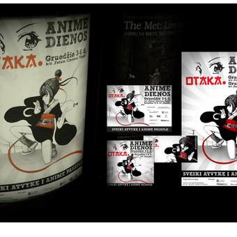 "Anime festivalio ""Otaka"" logotipas ir firminis stilius.   UAB ""Visetas"" "