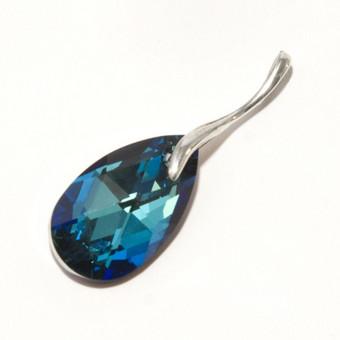 sidabriniai pakabukai su swarovski kristalais, su cirkonio kristalais