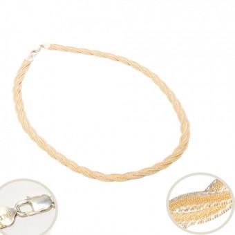 Sidabro papuošalai -sidabrinės grandinėlės, paauksuotos sidabrinės grandinėlės, tamsintos sidabrinės grandinėlės
