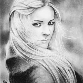 Portretas grafito technika