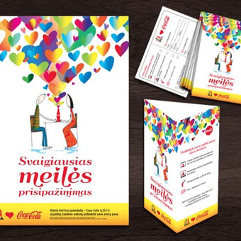 Valentino d. plakatas, stovelis, atvirutė | ČILI PICA Valentine's day poster, stand, postcard | ČILI PICA