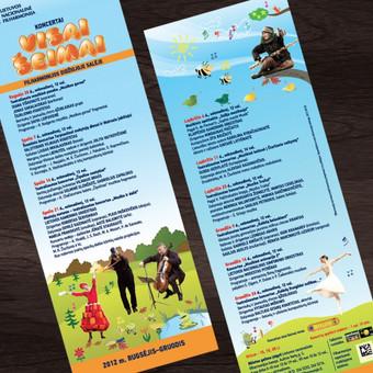 Skrajutė | Lietuvos nacionalinė filharmonija/ koncertai visai šeimai Flayer | Lithuanian National Philharmonic Society/ Family series concerts