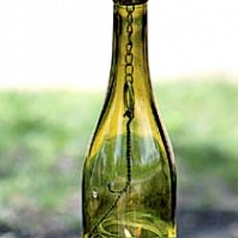 Originalios interjero detalės iš perpjautų stiklinių butelių / Romanas RAnamai / Darbų pavyzdys ID 24178