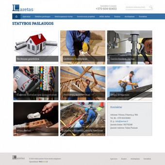 Sukurtas reprezentacinis puslapis, unikalus dizainas, pritaikytas prie WordPress TVS.
