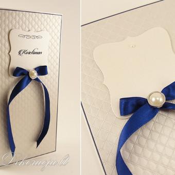 Vestuviniai kvietimai, spalvos derinamos pagal užsakovo norus