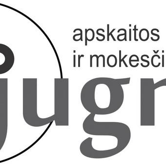 Apskaitos ir mokesčių paslaugų kompanijos logotipas (svetainė dar tvarkoma) http://jugma.lt/