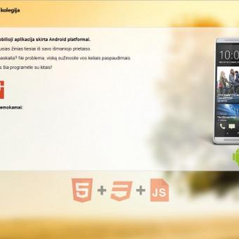 Aplikacijos reprezentacinis puslapis