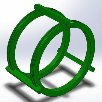 Helmholtz ritės 3D modelis