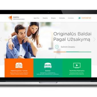 NT paslaugų puslapio dizainas. Peržiūra: http://webdizainai.lt/klientozona/INSTO/