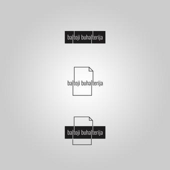 Buhalterijos paslaugų įmonės logotipas