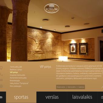 """Sporto, laisvalaikio ir verslo centro """"Forum Palace"""" tinklapio dizainas"""
