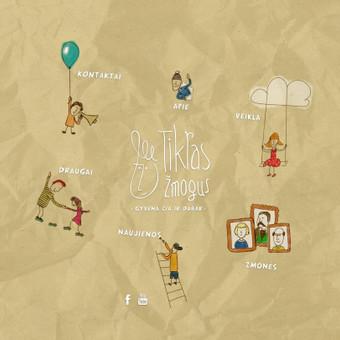 """Socialinio projekto """"Tikras Žmogus"""" tinklapio iliustravimas ir dizainas"""