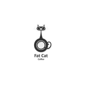 FatCat coffee - kavinukė Naujojoje Zelandijoje       Logotipų kūrimas - www.glogo.eu - logo creation.