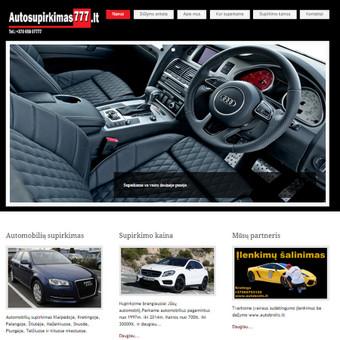 Internetinė svetainė auto supirkimui