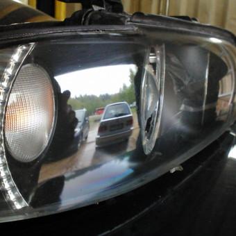 BMW e39 po žibintų poliravimo.