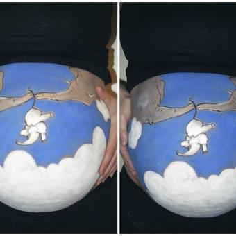 Belly painting, piešyba ant kūno/veido
