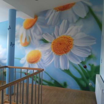 2014.Įspūdingo dydžio sieninė Andriaus tapyba! Nuo animacinių piešinių vaikams ir ornamentinės tapybos iki 3D grafikos ir optine iliuzija paremtų kūrinių – unikaliais piešiniais dailini ...